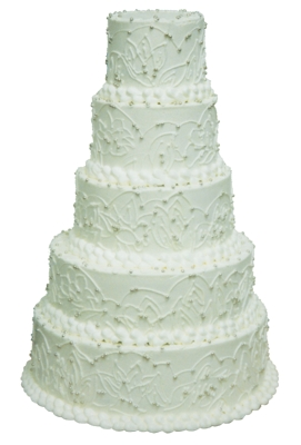Custom Wedding Cake to Match Bride's Lace by Renee Shelton